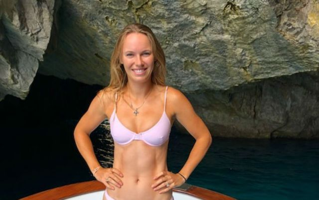 Caroline Wozniacki shared a photo from the rest