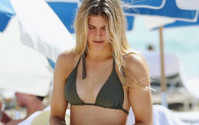 Eugenie Bouchard laid out a photo from the rest