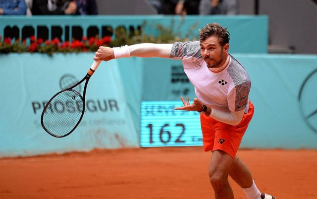 Madrid. Stan Wawrinka defeated Kei Nishikori