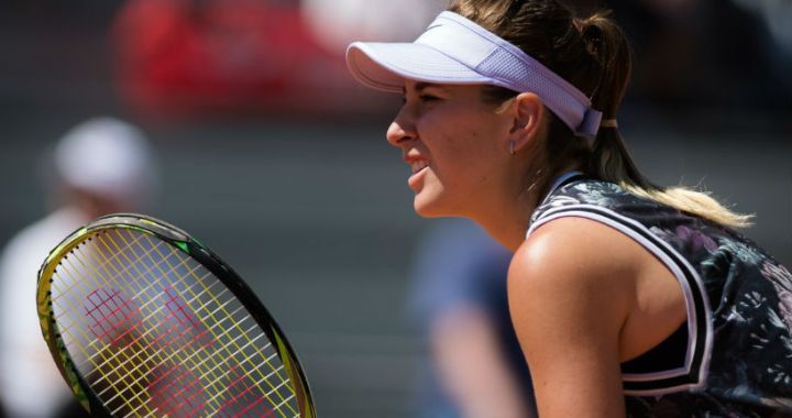 Belinda Bencic won the opening match at the Mallorca Open tournament