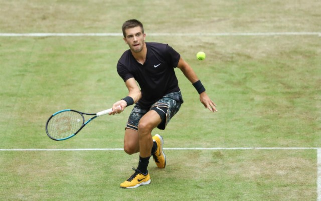 Borna Coric was unable to finish the match quarter finals in Halle