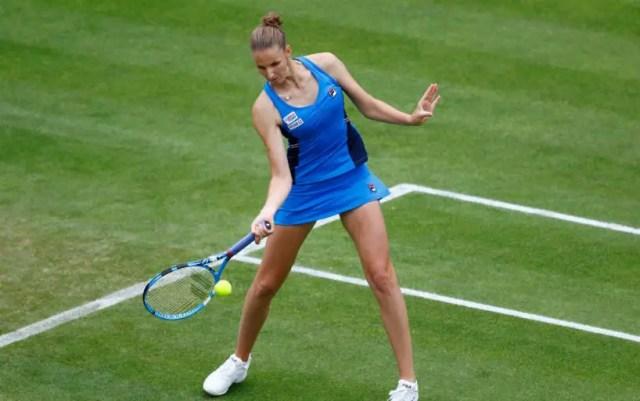 Karolina Pliskova made it to the quarterfinals of the Eastbourne tournament