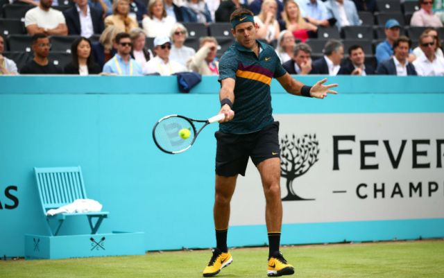 Juan Martin Del Potro achieved victory at the start of the tournament in London