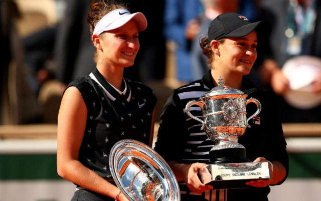 Paris. The best moments of the womenєs final between Ashley Bartie and Market Vondrousova