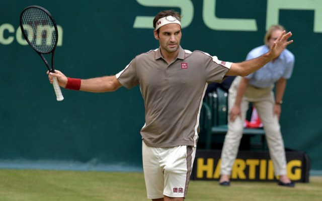 Roger Federer won the title in Halle