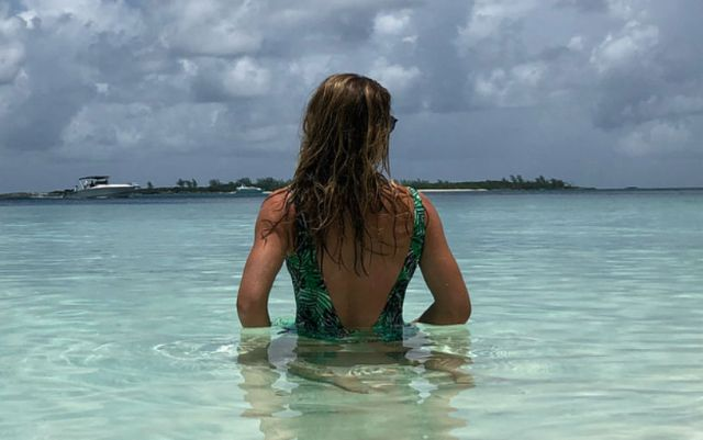 Simona Halep shared a snapshot in a bathing suit