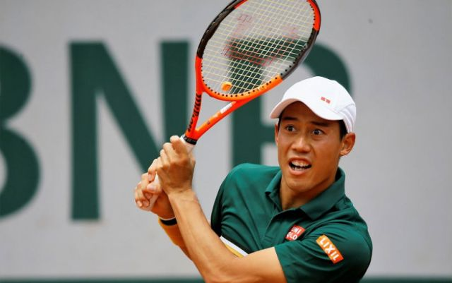 London. Kei Nishikori went to the second round