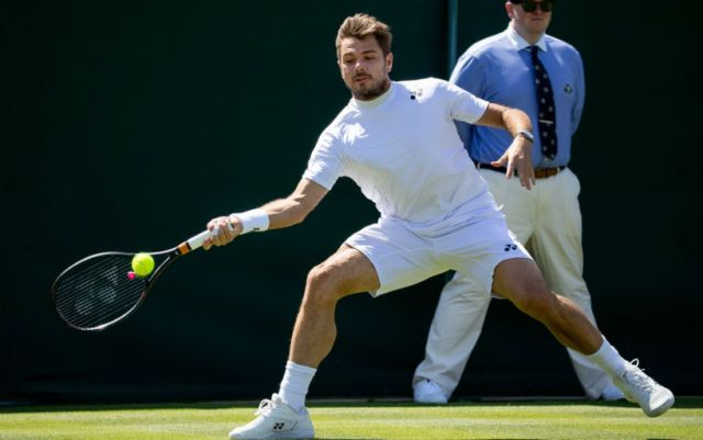 Stan Wawrinka won the opening match at the Wimbledon