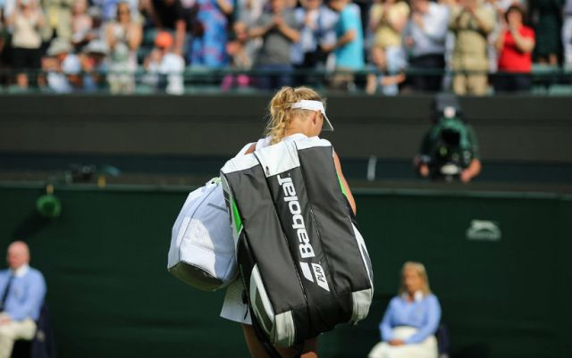 Wimbledon. Caroline Wozniacki lost in the third round