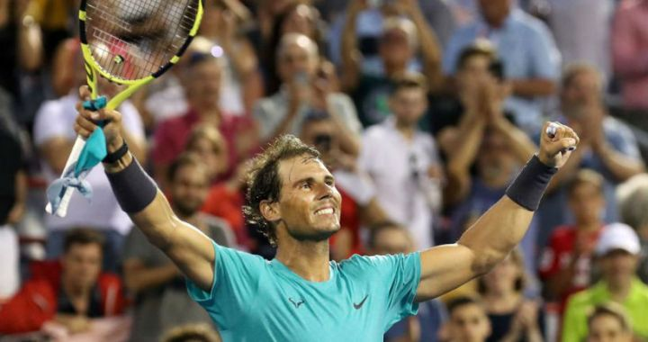 Rafael Nadal made it to the Masters finals in Montreal without a fight