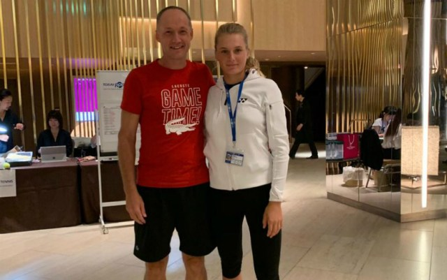 Dayana Yastremska with coach