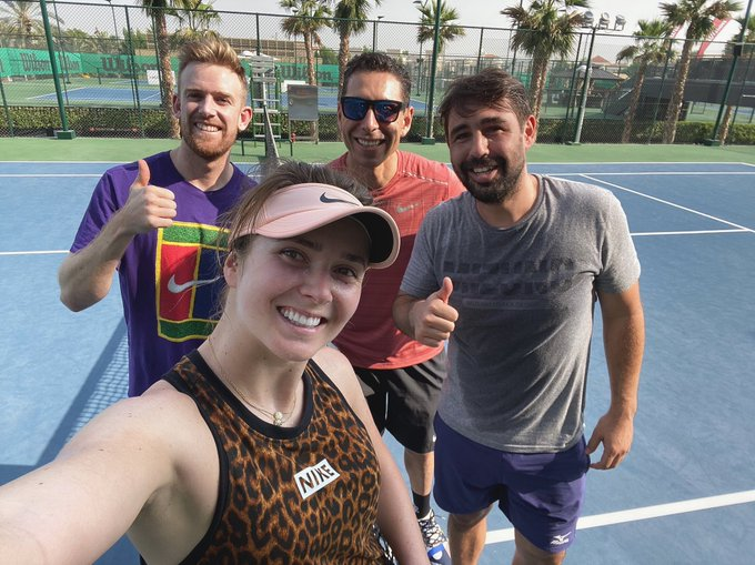 Svitolina with team