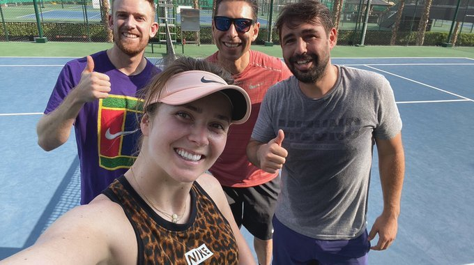 Elina Svitolina announcing collaboration with Marcos Baghdatis