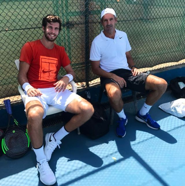 Karen Khachanov with Vedran Martic
