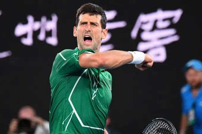 Novak Djokovic after win over swiss Roger federer at Australian Open