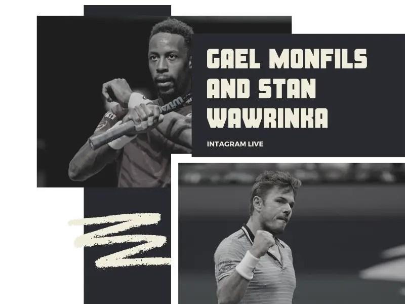 Gael Monfils Instagram live with Stan Wawrinka