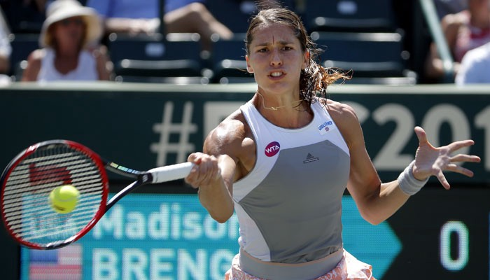 Andrea Petkovic — Injured Knee and Pulls Out of Doubles with Jelena Jankovic in Charleston