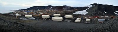 McMurdo panoramic from Observation Hill (Jan 2013)