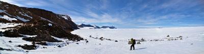 At edge of Mackay Glacier panoramic (Jan 2013)