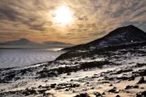 Night sun over McMurdo Sound (Jan 2013)