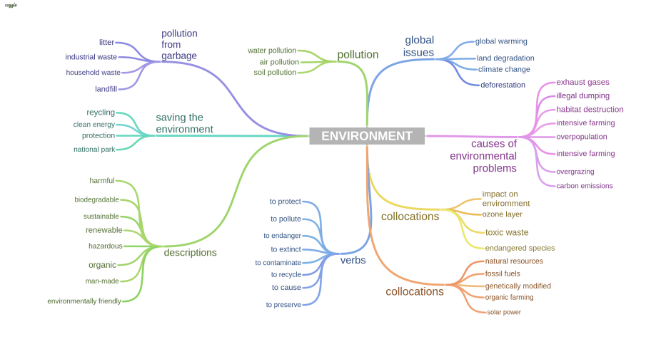 ENVIRONMENT vocabulary topic for IELTS SPEAKING
