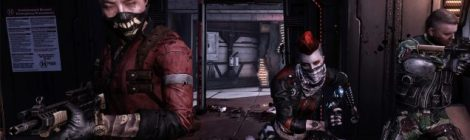 Three characters from Killing Floor 2 armed for combat