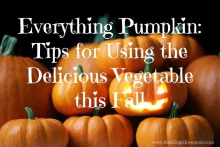 EVERYTHING PUMPKIN: TIPS FOR USING THE DELICIOUS VEGETABLE THIS FALL