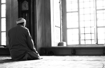 Man Siting in Salah