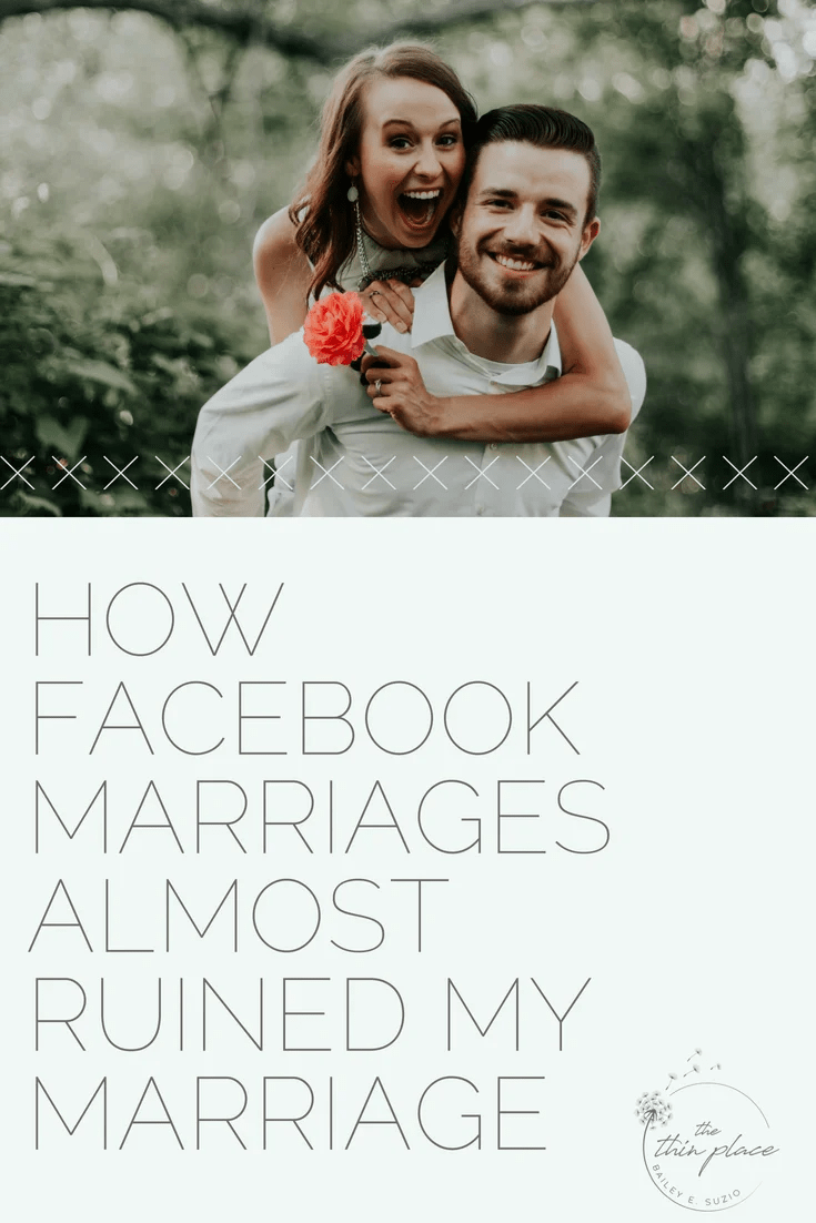 In a shocking turn of events, Facebook wasn't actually a credible measuring stick for their marriages. Life wasn't what it appeared to be in their beautifully edited photos. It was simply that, an edited version of their lives. That's when I realized, I needed to stop looking at social media and start looking to the relationship God had given me. #facebook #socialmedia #marriage #marriageadvice #christianmarriage #christianity