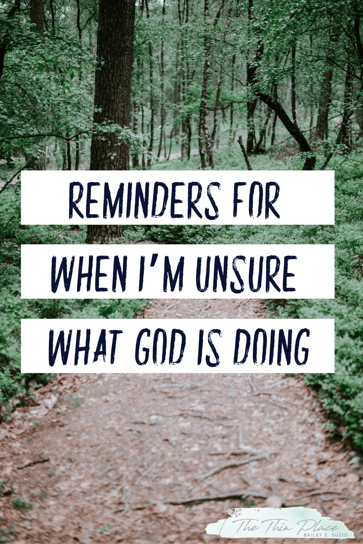 How I Preach to Myself When I'm Unsure What God is Doing #gospelliving #christianwoman #biblestudy #christianfaith #hopeinGod