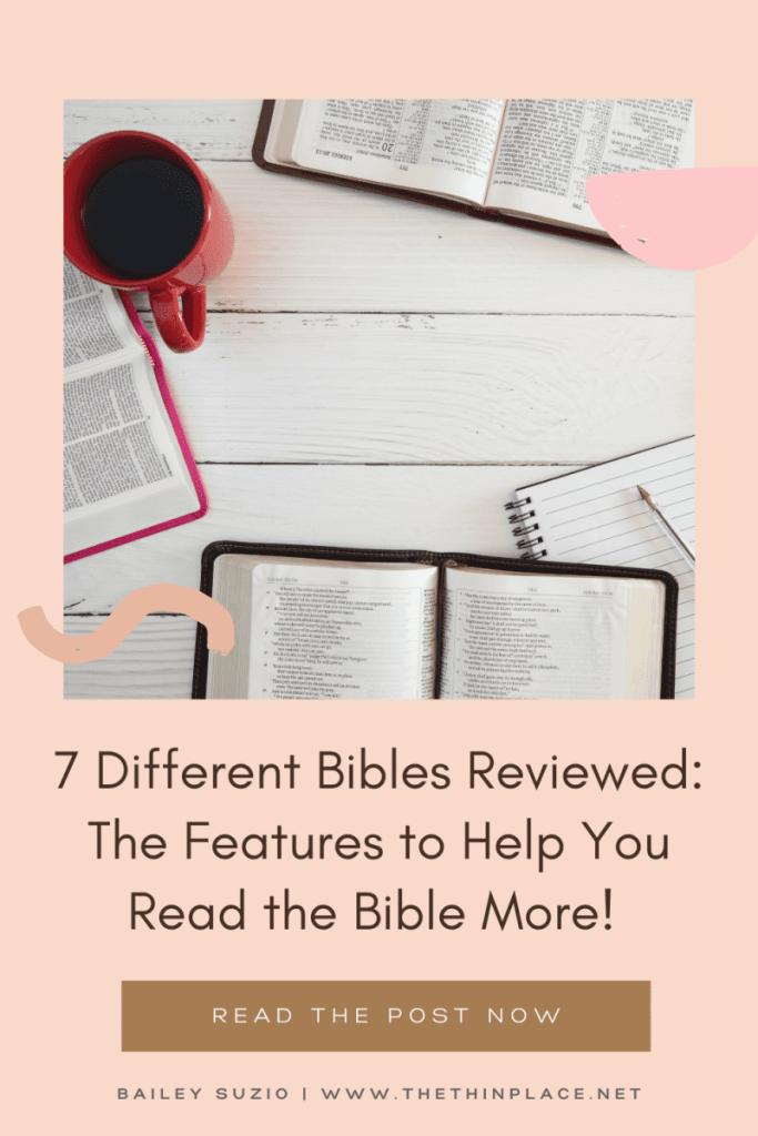 7 Study Bible, AudioBible, and Podcast Bibles Reviewed #bible #biblereading #biblereviews #christianbible #catholicbible