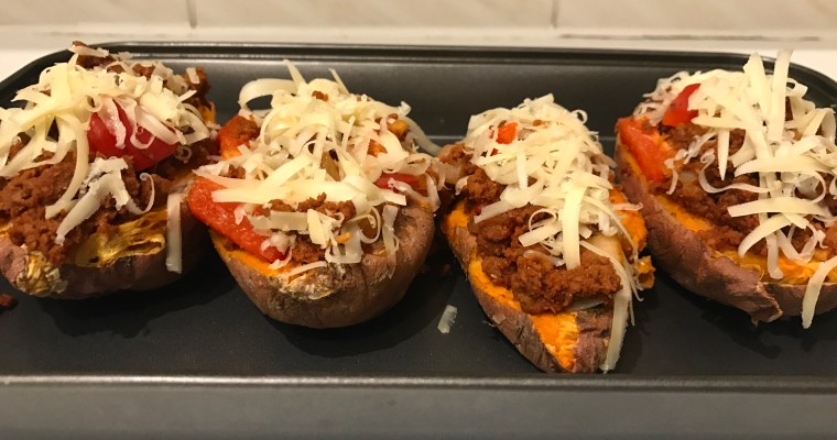 Sweet Potato Taco Boats