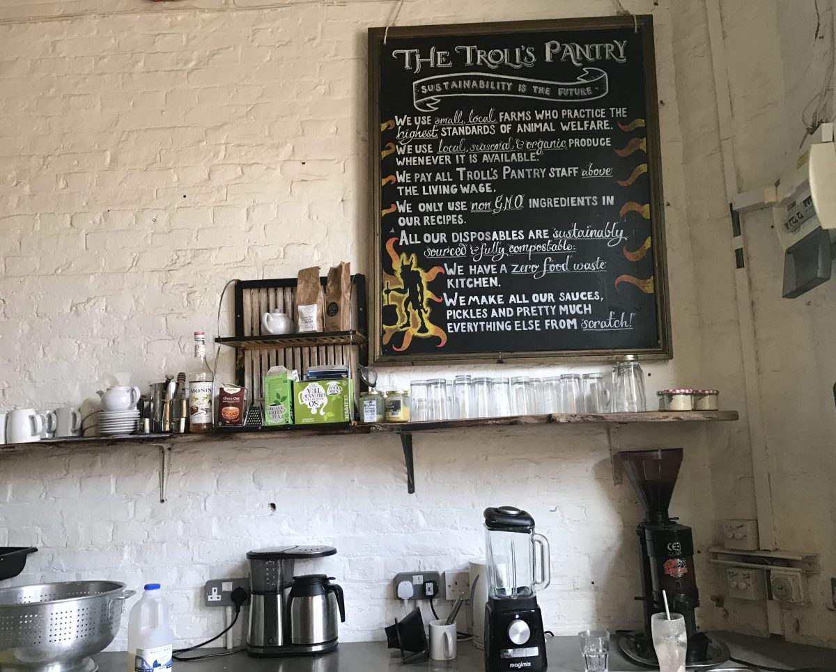 Troll's Pantry sustainability commitments