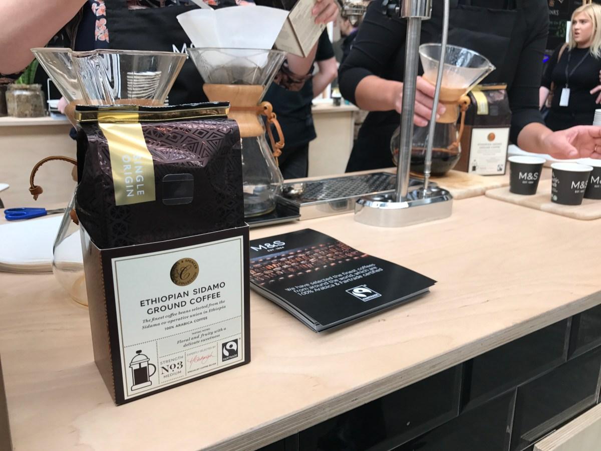 M&S ground coffee brewed via pourover