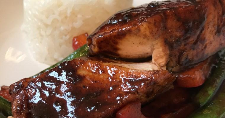 Recipe: Stir fried honey soy salmon