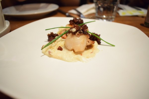 Scallops and bacon jam
