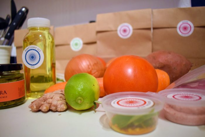 Fresh ingredients and recyclable packaging