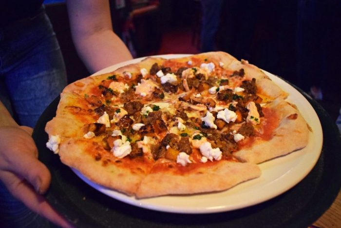 The Baa-Baa-Rella pizza