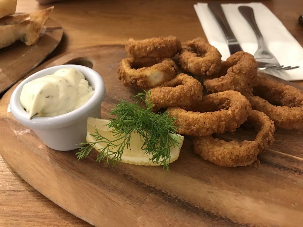 Fresh calamari | Bankers fish and chips