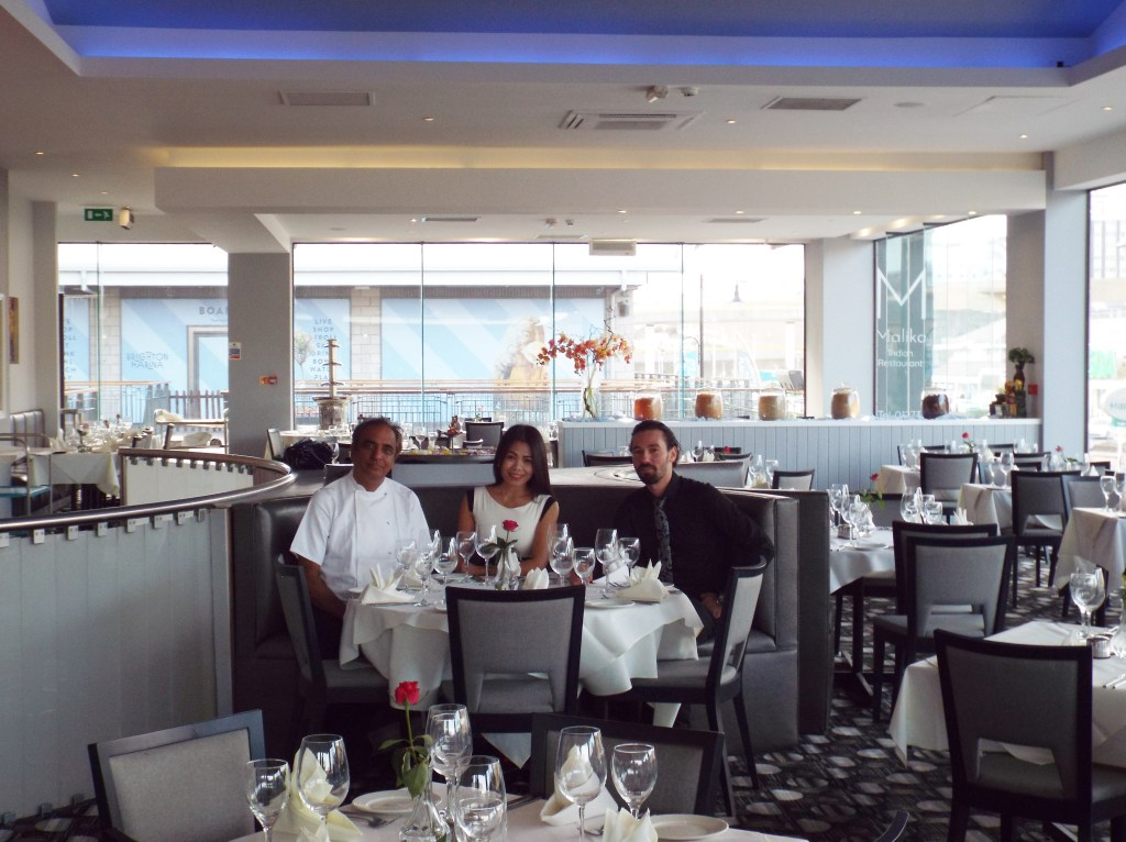 L-R: Head Chef, KK Anand, Owner, Lisa Kelly and Manager, Alex Stadoleanu