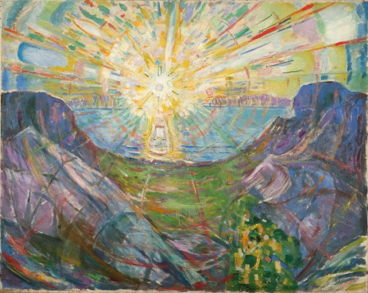 The Sun, by Edvard Munch, 1910