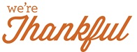 Were thankful sign