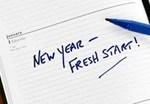 New year fresh start sign