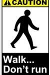 walk dont run sign