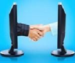 computer hand shake