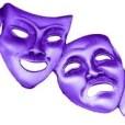 blue theater masks