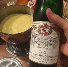 Riesling and fondue for Christmas night