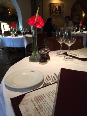 The very elegant Peploe's ready for the arrival of the bustling lunchtime crowd.