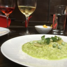 Phenomenal meal at Graham Elliot Bistro in Chicago's West Loop. Best risotto we've ever had.