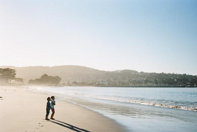 The beach in Monterey California
